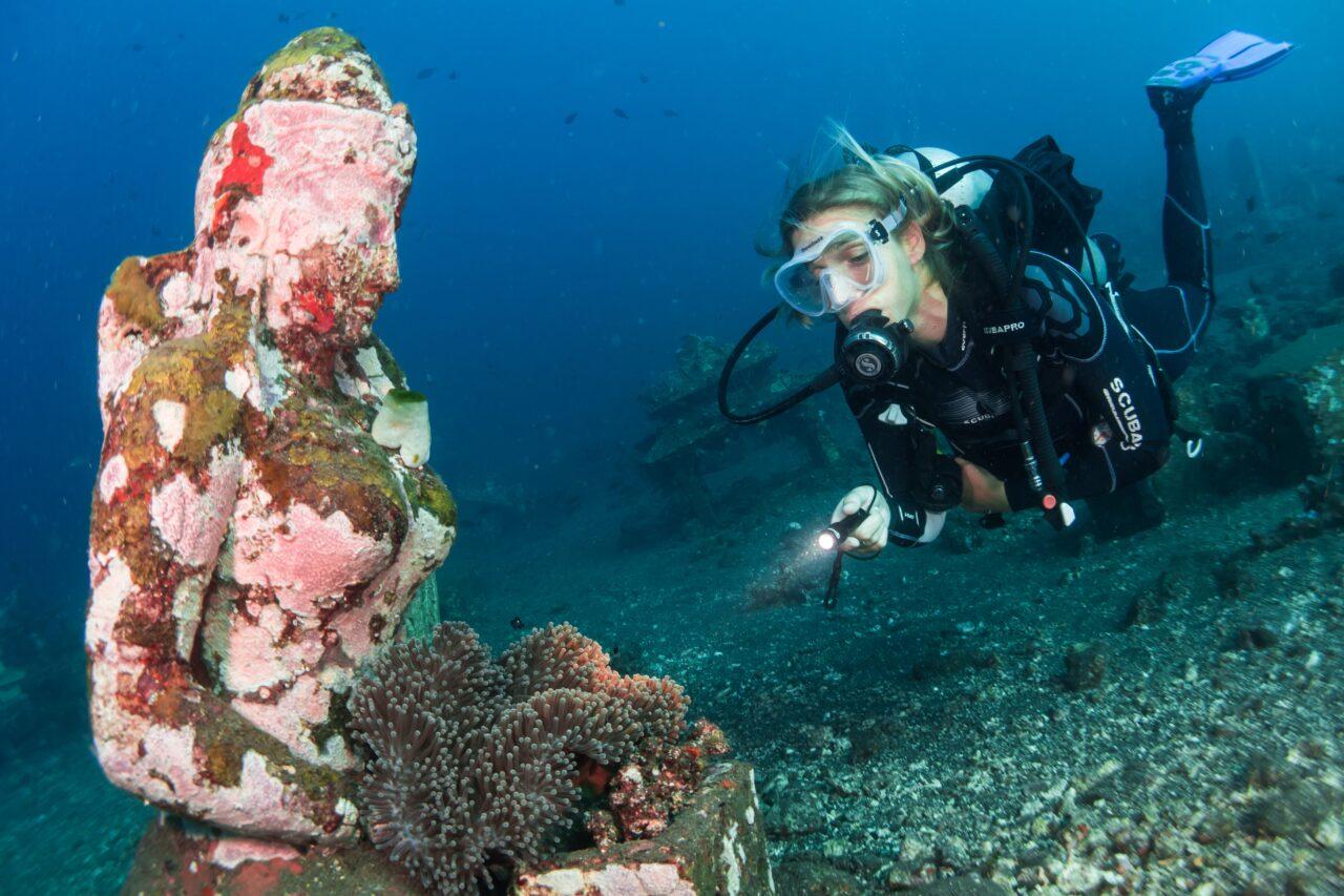 Scuba diver in Amed Bali