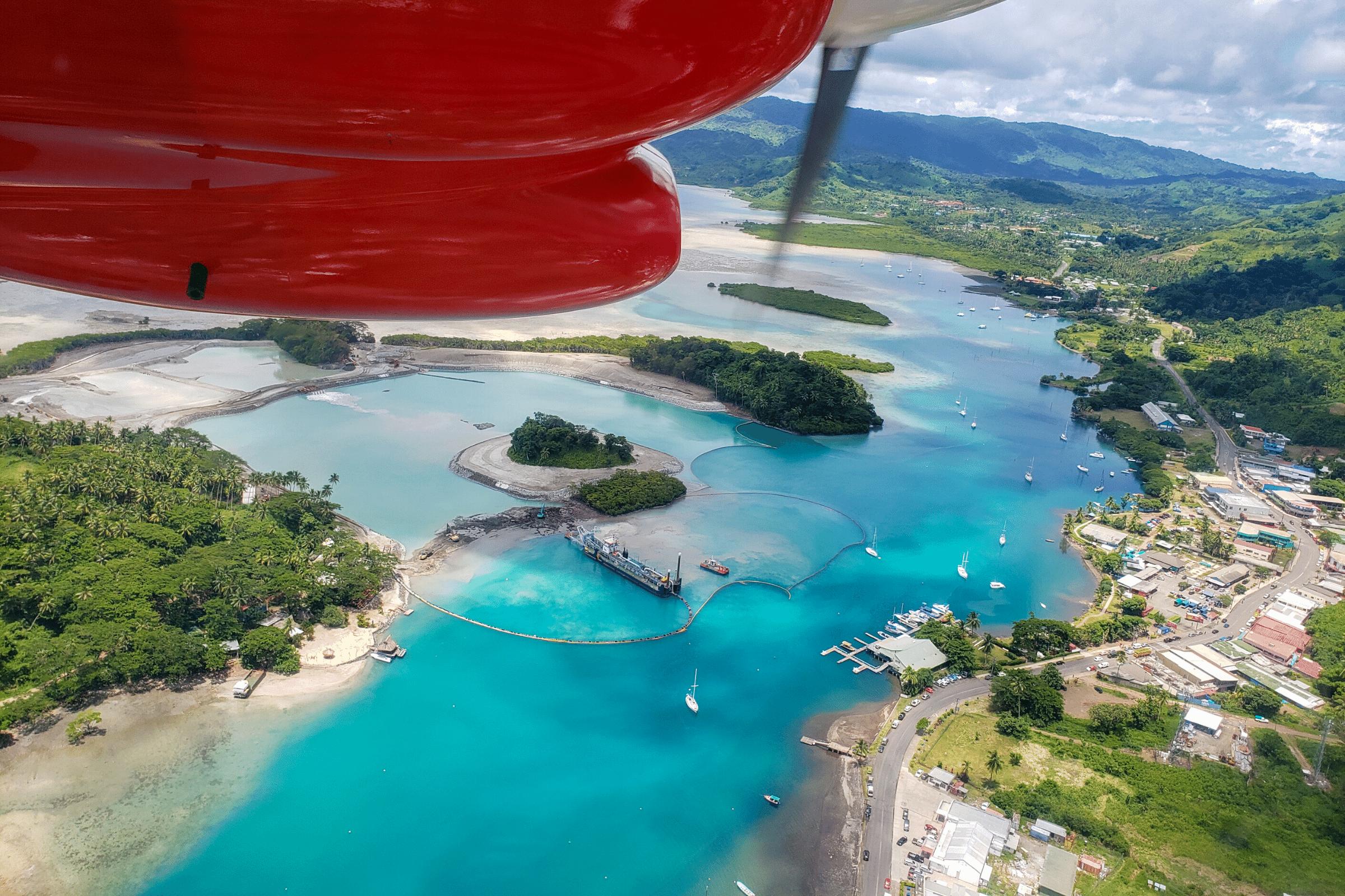 Overview of Savusavu Fiji
