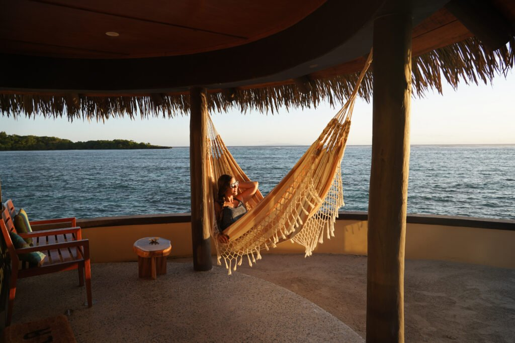 Koro Sun Resort Review: Hammock lounging