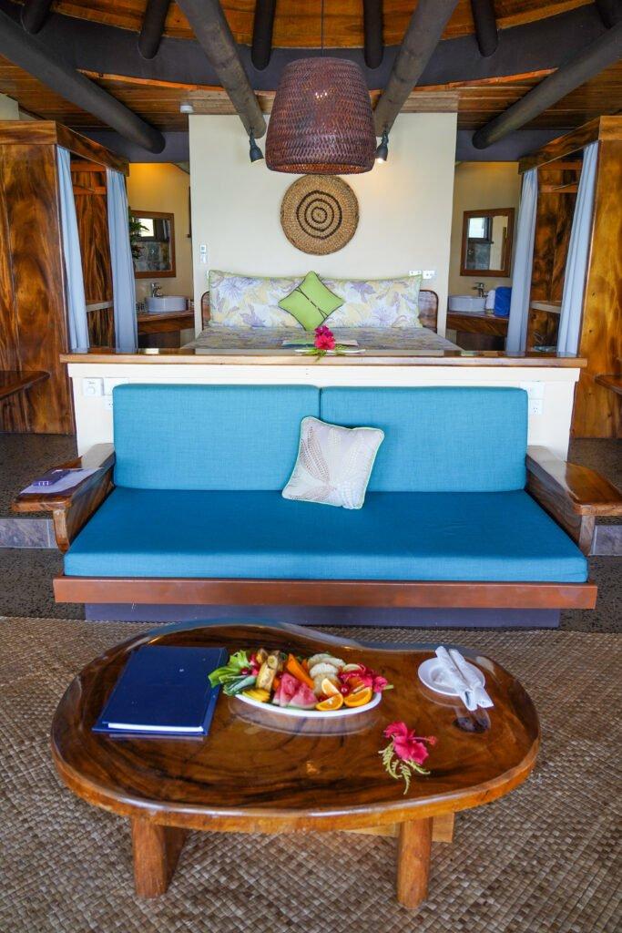 Inside of edgewater bure at Koro Sun Resort