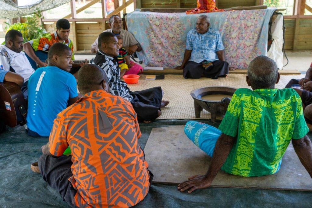 Kava ceremony Savusavu Fiji