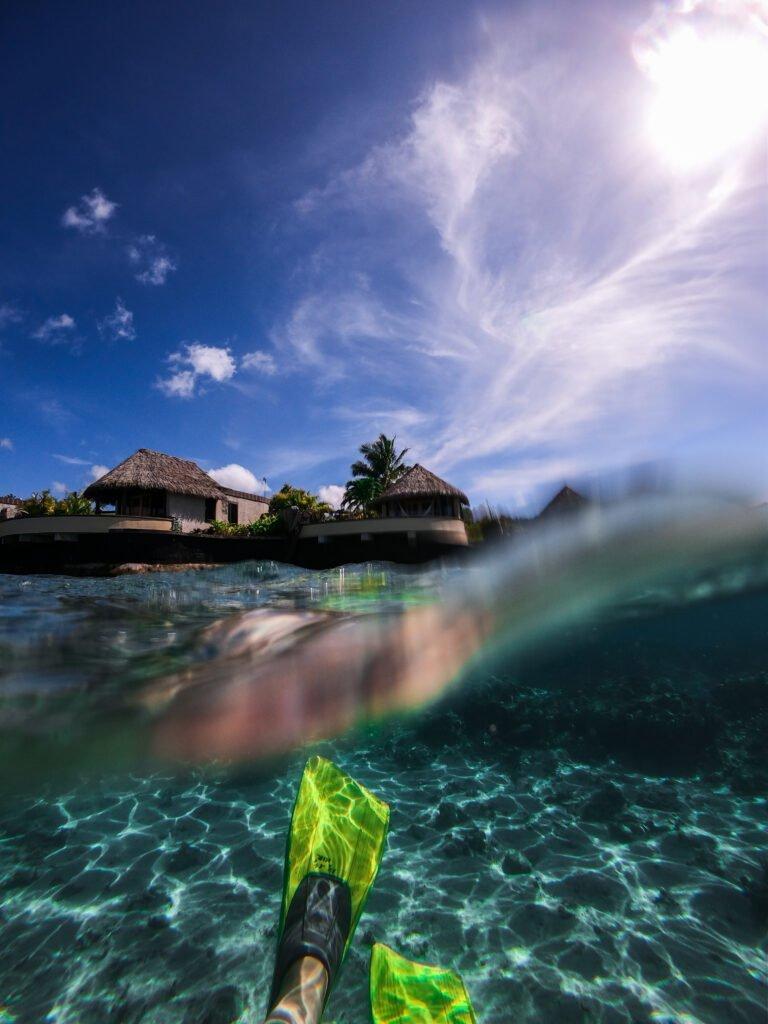 Underwater snorkel gear