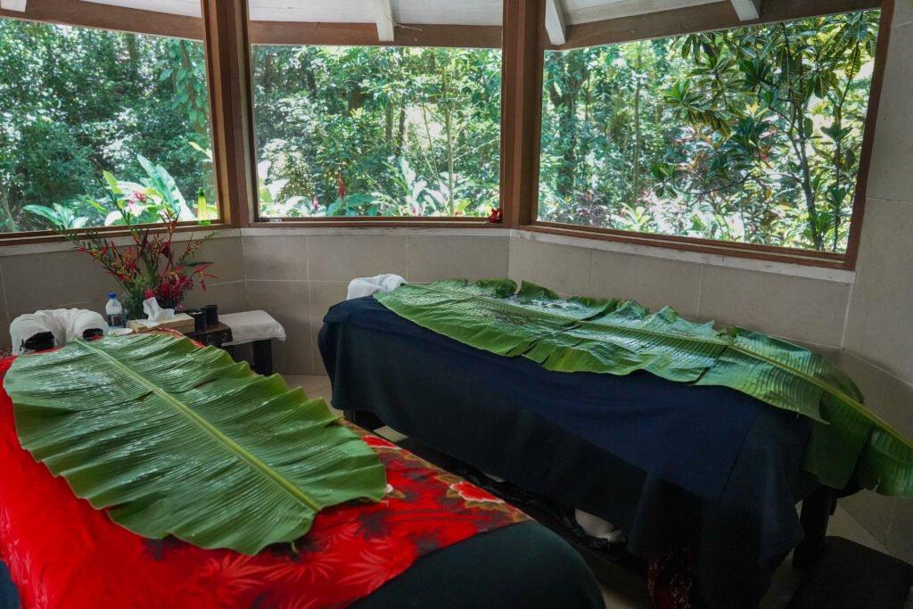 Rainforest spa treatment at Koro Sun Resort