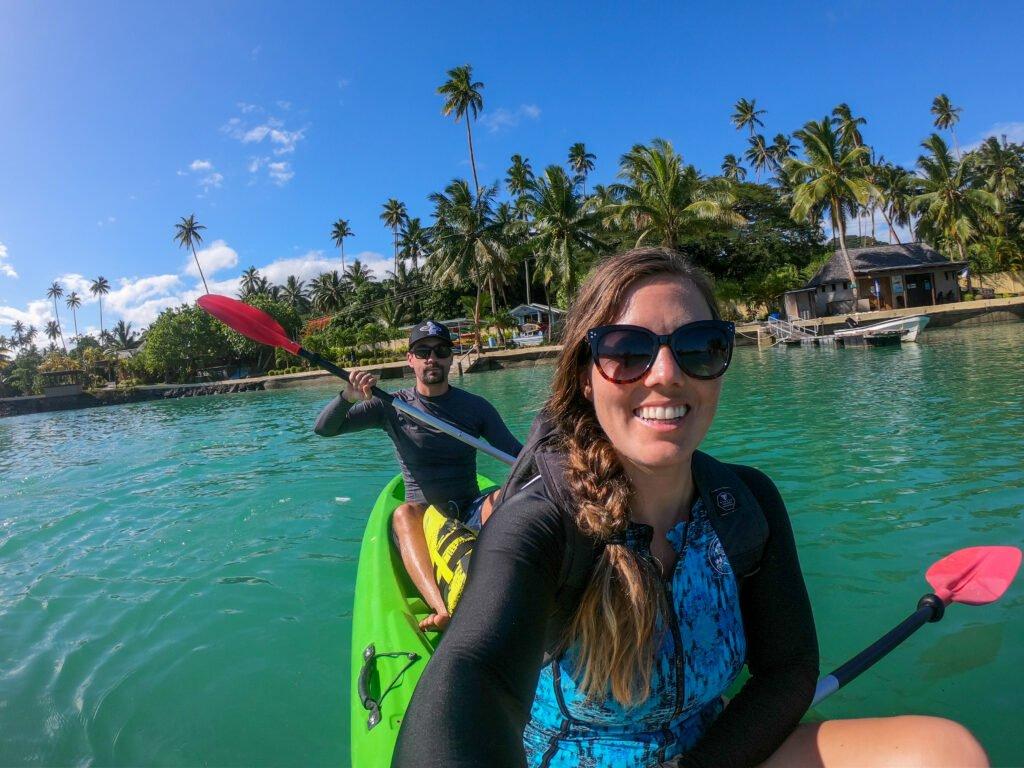 Kayaking Savusavu Fiji