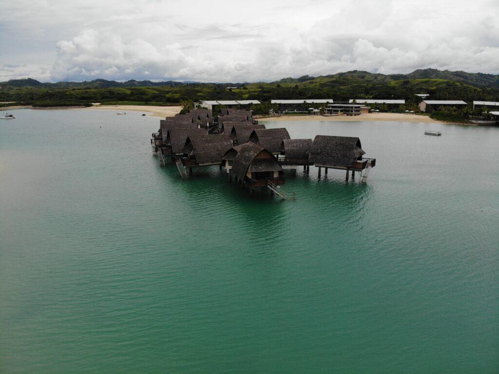 Overwater Bures at Marriott Fiji